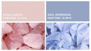 Rosa cuarzo y azul serenidad, colores del 2016